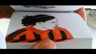 Best skills of Ronaldinho in flipbook by Etoilec1