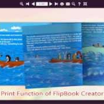 How to Print Flash Flipping Book By FlipBook Creator