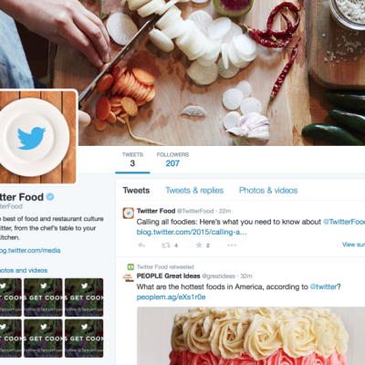 Twitter's New Dedicated Food Account Could Help Broaden Appeal