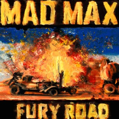 This beautiful Mad Max poster is animated with oil paintings