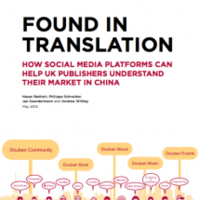Using Social Media to Understand the Chinese Book Market